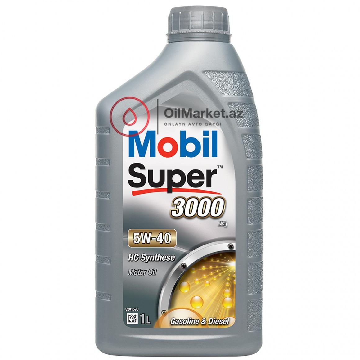 Mobil Super 3000 X1 5W-40 - 4 Lt